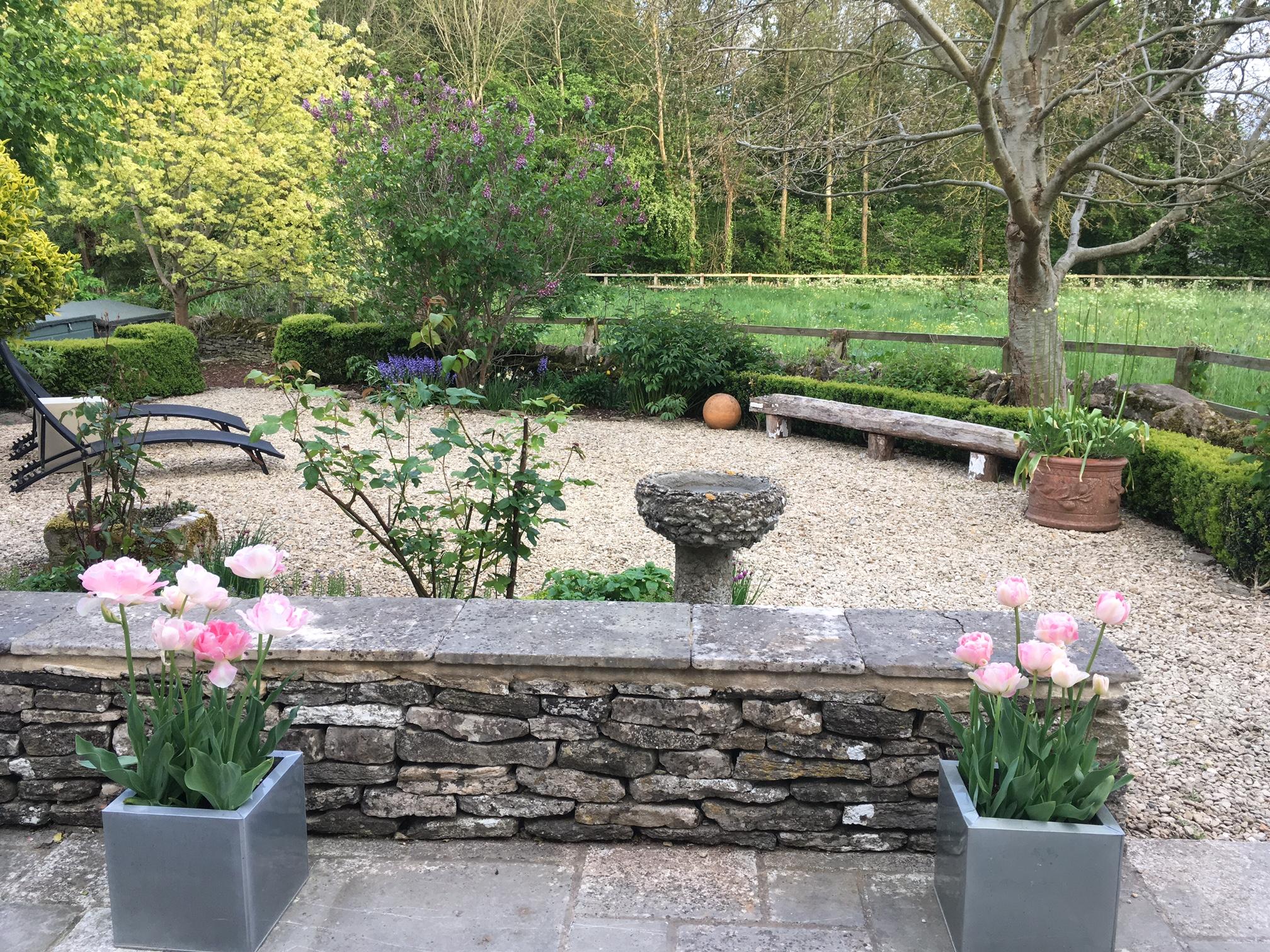 The Chestnuts garden in spring