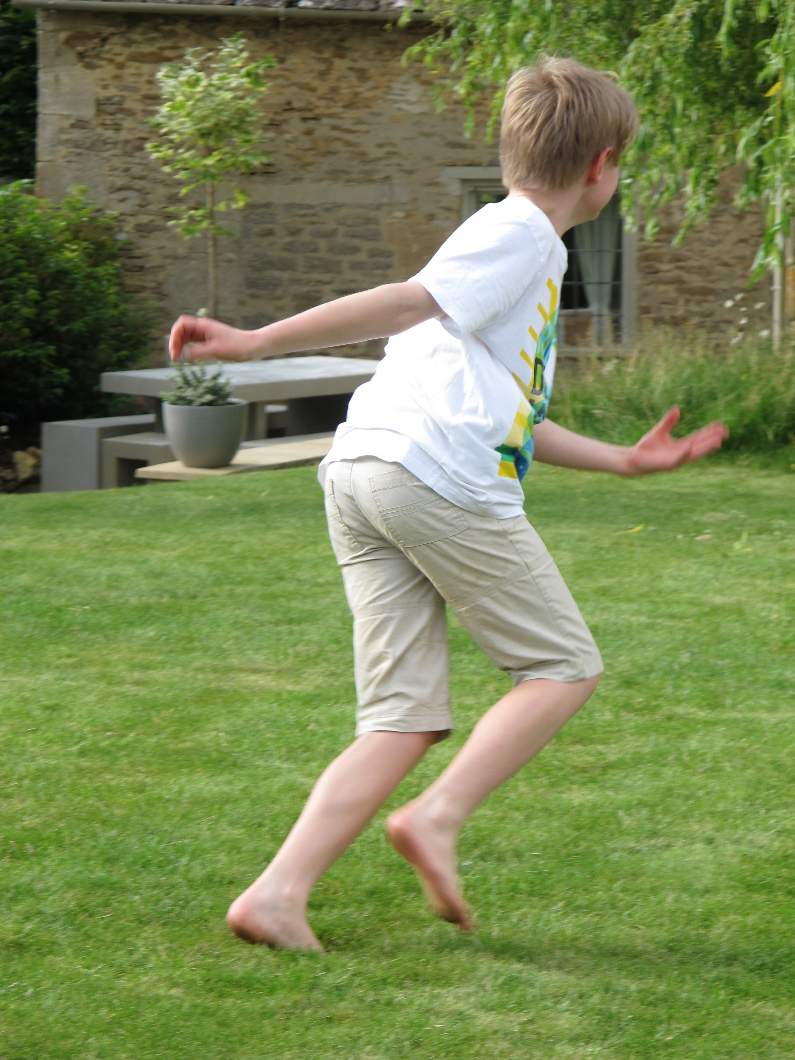 Enjoy playing on the lawn at Culls Cottage