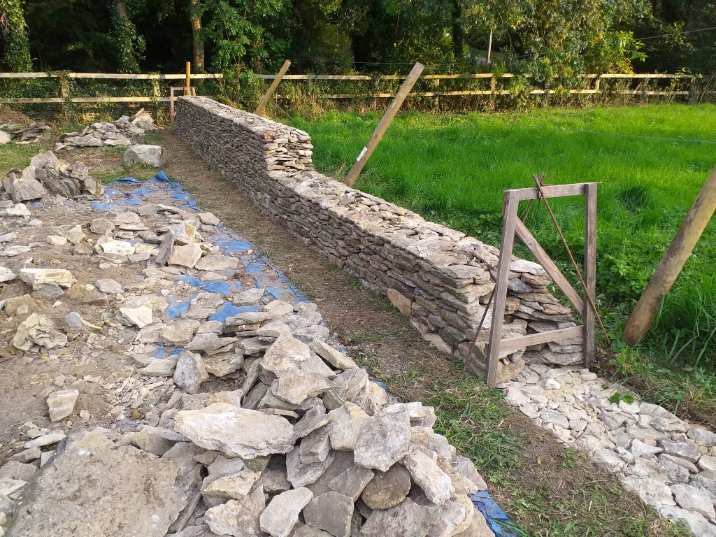 Drystone wall construction