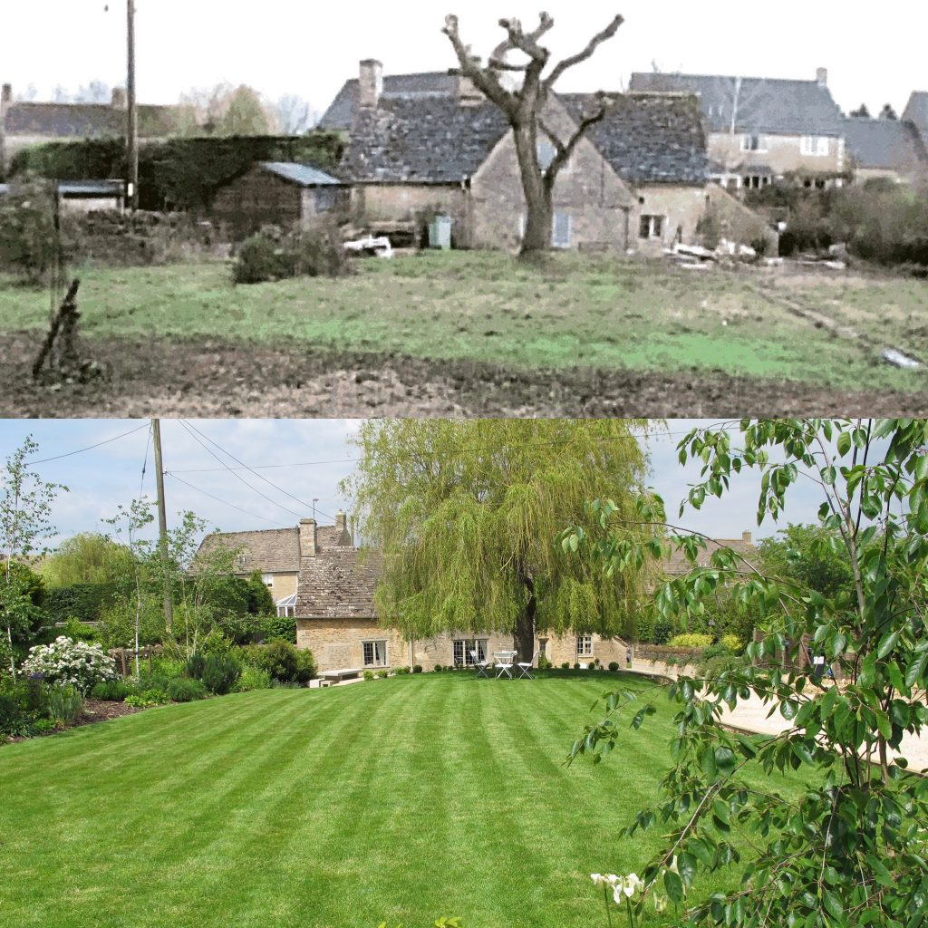 Culls cottage garden before and after