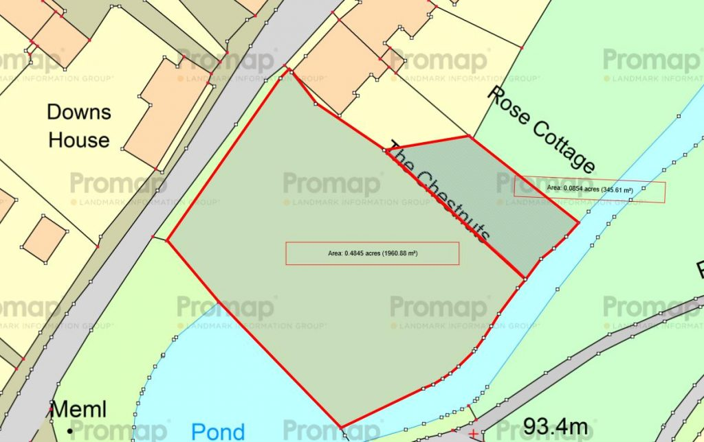 The Chestnuts site plan