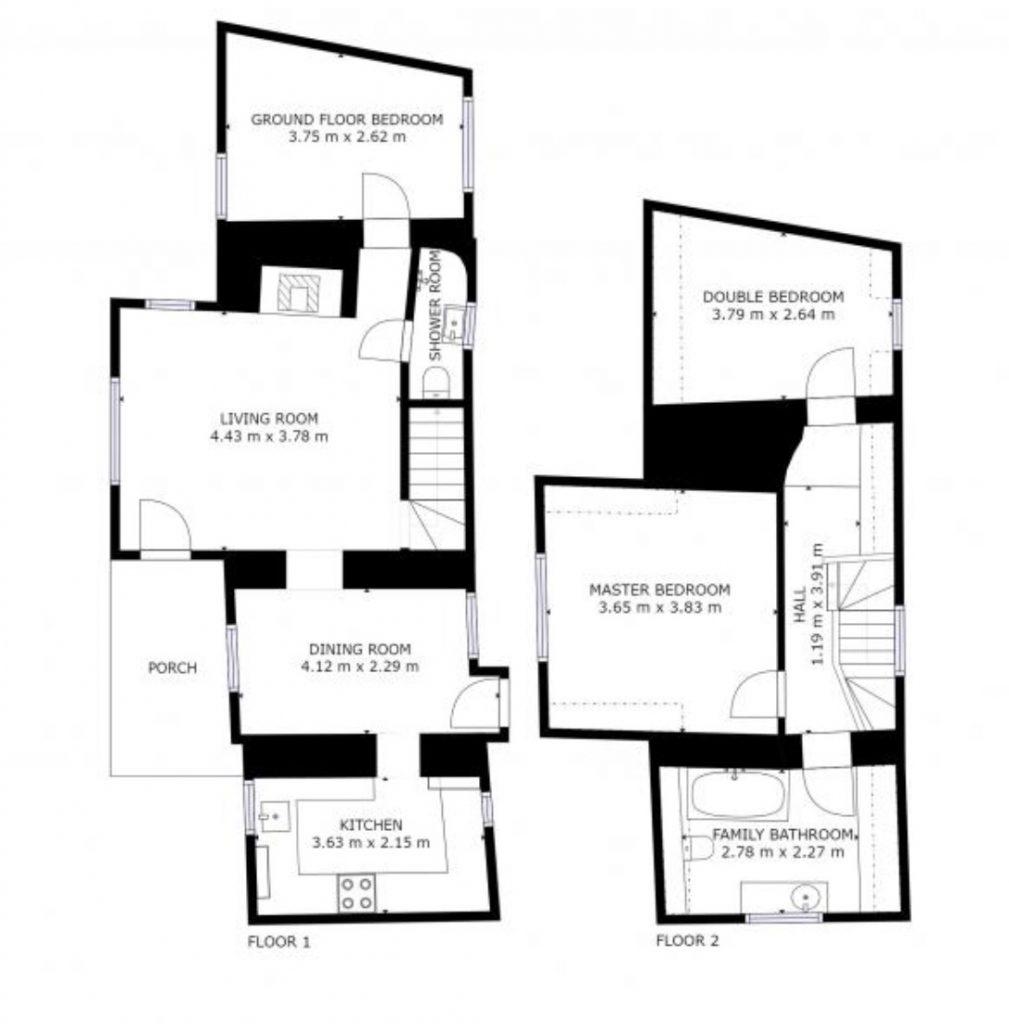 Culls Cottage floor plan