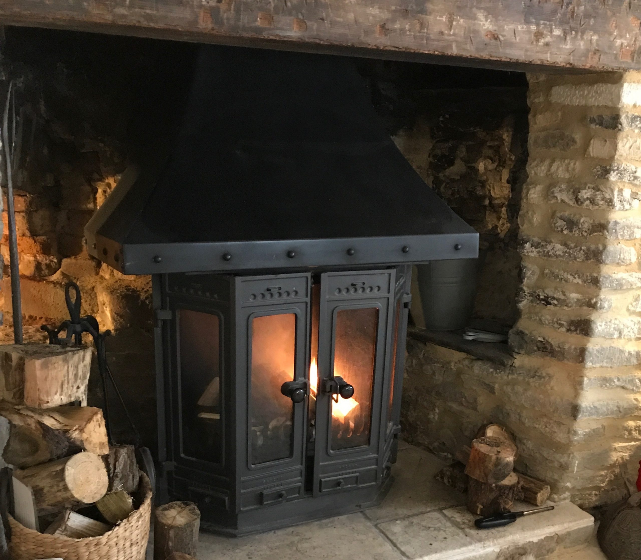 The inglenook fireplace
